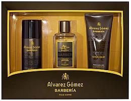 Парфюмерия и Козметика Alvarez Gomez Agua De Colonia Concentrada Barberia - Комплект (одеколон/150ml + део/150ml + душ гел/230ml)