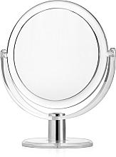 Парфюмерия и Козметика Двустранно козметично огледало със стойка, d 16 см - Titania