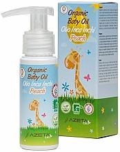 Органично масло за бебе с праскова и инка инчи - Azeta Bio Organic Baby Peach Oil Inca Inchi — снимка N1