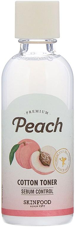 Тонер за лице - Skinfood Premium Peach Cotton Toner — снимка N1
