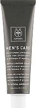 Делекатен крем за бръснене със звъника и прополис - Apivita Men Men's Care Gentle Shaving Cream With Hypericum & Propolis — снимка N2
