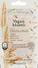 Парфюмерия и Козметика Маска пилинг за лице 2в1 с овес, пшеница и ленено семе - Bielenda Vegan Muesli