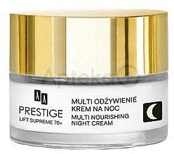 Парфюмерия и Козметика Нощен крем за чувствителна и склонна към алергии кожа - AA Prestige Lift Supreme Multi Nourishing Night Cream 70+