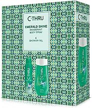 Парфюми, Парфюмерия, козметика C-Thru Emerald Shine - Комплект (дезодорант/150ml + душ гел/250ml)