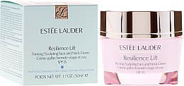 Парфюми, Парфюмерия, козметика Лифтинг крем за лице и шия за нормална кожа - Estee Lauder Resilience Lift Firming Sculpting Face and Neck Creme Oil-Free SPF 15