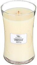 Парфюмерия и Козметика Ароматна свещ в чаша - WoodWick Hourglass Candle Lemongrass & Lily