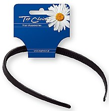Парфюмерия и Козметика Диадема за коса 27697, черна - Top Choice Hair Headband