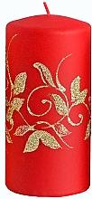 Парфюмерия и Козметика Декоративна свещ, червена, 7x10 см - Artman Amelia