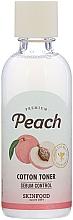 Парфюмерия и Козметика Тонер за лице - Skinfood Premium Peach Cotton Toner
