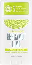 Парфюмерия и Козметика Натурален дезодорант - Schmidt?s Naturals Deodorant Bergamot Lime Stick