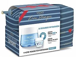 Парфюмерия и Козметика Комплект за лице - Vichy Aqualia Thermal For Dry Skin (крем/50ml + крем/15ml + козм. чанта)