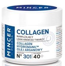Парфюми, Парфюмерия, козметика Овлажняващ крем за лице 40+ №301 - Mincer Pharma Collagen Face Cream