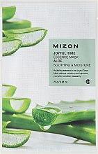 Парфюмерия и Козметика Маска от плат с екстракт от Алое - Mizon Joyful Time Essence Mask Aloe