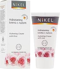 Парфюми, Парфюмерия, козметика Хидратиращ крем за лице с роза - Nikel Hydrating Cream with Rose