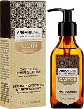 Парфюмерия и Козметика Серум за растеж на косата - Arganicare Castor Oil Hair Serum