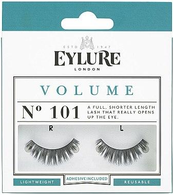 Изкуствени мигли №101 с лепило - Eylure Volume False Eyelashes No.101 — снимка N1