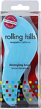 Парфюмерия и Козметика Четка за коса, синя - Rolling Hills Detangling Brush Travel Size Sky Blue