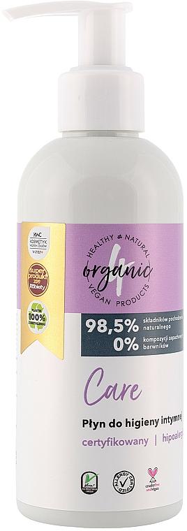 Натурален гел за интимна хигиена с помпа дозатор - 4Organic Care Intimate Gel