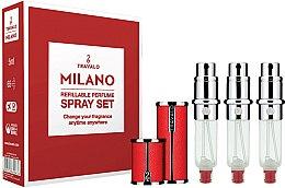 Парфюми, Парфюмерия, козметика Комплект пълнители за парфюм - Travalo Milano Red Set (atomiser/3x5ml + case)