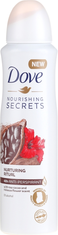 Спрей антиперспирант - Dove Nourishing Secrets Cacao & Hibiscus Dry Spray Antiperspirant