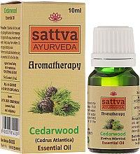 """Парфюмерия и Козметика Етерично масло """"Кедър"""" - Sattva Ayurveda Cedarwood Essential Oil"""