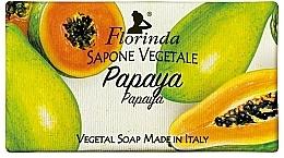 Парфюмерия и Козметика Натурален сапун с папая - Florinda Papaya Natural Soap