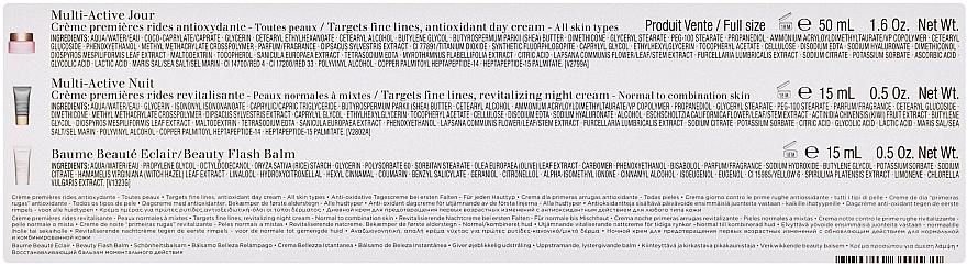 Комплект за лице - Clarins Multi-Active Collection (дневен крем/50ml + нощен крем/15ml+балсам/15ml+козм. чанта) — снимка N3