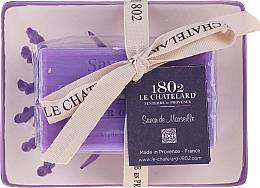 Парфюмерия и Козметика Натурален сапун с аромат на лавандула, с керамична сапунерка - Le Chatelard Lavande Soap