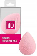 Парфюми, Парфюмерия, козметика Гъба за грим, средна, розова - Ilu Sponge Raindrop Medium Pink
