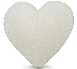 Парфюмерия и Козметика Гъба за измиване, сърце - Bebevisa Pure Konjac Sponge