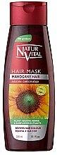Парфюми, Парфюмерия, козметика Маска за запазване на цвета на боядисана коса - Natur Vital Coloursafe Henna Hair Mask Mahogony Hair