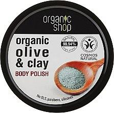 """Парфюми, Парфюмерия, козметика Скраб за тяло """"Синя глина"""" - Organic Shop Body Scrub Organic Olive & Clay"""