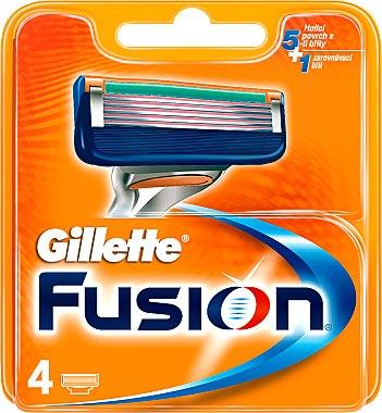 Сменяеми ножчета за бръснене, 4 бр. - Gillette Fusion — снимка N1