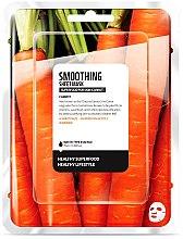 """Парфюми, Парфюмерия, козметика Памучна маска за лице """"Морков"""" - Superfood For Skin Smoothing Sheet Mask"""