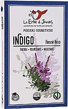 Натурално индиго на прах за коса - Le Erbe di Janas Indigo (Black Henna) — снимка N1