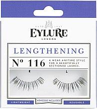 Парфюмерия и Козметика Изкуствени мигли №116 с лепило - Eylure Lengthening False Eyelashes No.116