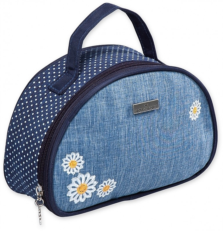 "Козметична чанта ""Camomiles"", 98192, с цветя - Top Choice"