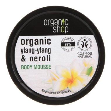 """Мус за тяло """"Белгийско цвете"""" - Organic Shop Body Mousse Organic Neroli & Frangipani — снимка N1"""