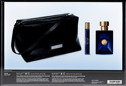Versace Pour Homme Dylan Blue - Комплект (тоал. вода/100ml + тоал. вода/10ml + козм. чанта) — снимка N2