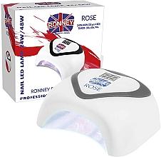 Парфюмерия и Козметика Лампа LED за нокти, сребриста - Ronney Profesional Rose LED 24W/48W (GY-LED-035) Lamp