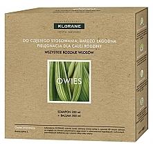 Парфюмерия и Козметика Комплект за коса - Klorane Oat Milk (шампоан/200ml + балсам/200ml)