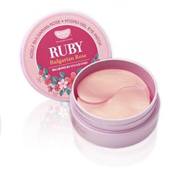 Хидрогел пачове за очи с рубини и българска роза - Petitfee & Koelf Ruby & Bulgarian Rose Eye Patch