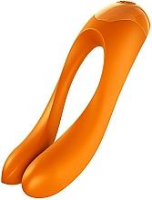 Парфюмерия и Козметика Вибратор за пръсти, оранжев - Satisfyer Candy Cane Finger Vibrator Orange