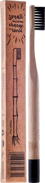 Черна бамбукова четка за зъби, средна твърдост - Mohani Toothbrush