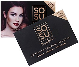 Парфюмерия и Козметика Контурираща палитра за лице - Sosu by SJ Magnetic Refillable Complete Contour Palette