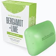 Парфюми, Парфюмерия, козметика Сапун - Schmidt's Naturals Bar Soap Bergamot Lime