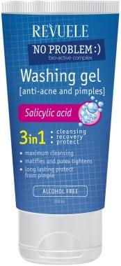 Измиващ гел за лице 3 в 1 със салицилова киселина - Revuele No Problem Washing Gel