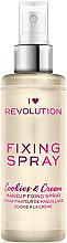 Парфюмерия и Козметика Фиксиращ спрей за грим - I Heart Revolution Fixing Spray Cookies & Cream