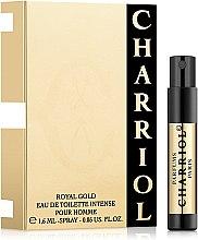 Парфюмерия и Козметика Charriol Royal Gold Eau De Toilette Intense Pour Homme - Тоалетна вода (мостра)