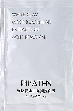 "Маска за лице ""Бяла глина"" - Pil'Aten White Clay Mask Blackhead Extraction Acne Removal"